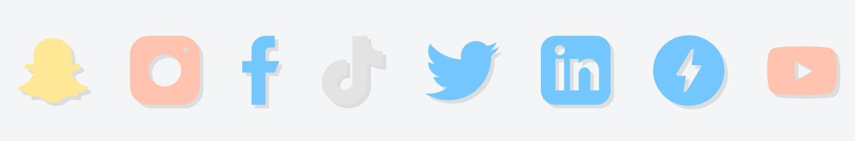 All the social media platform in line