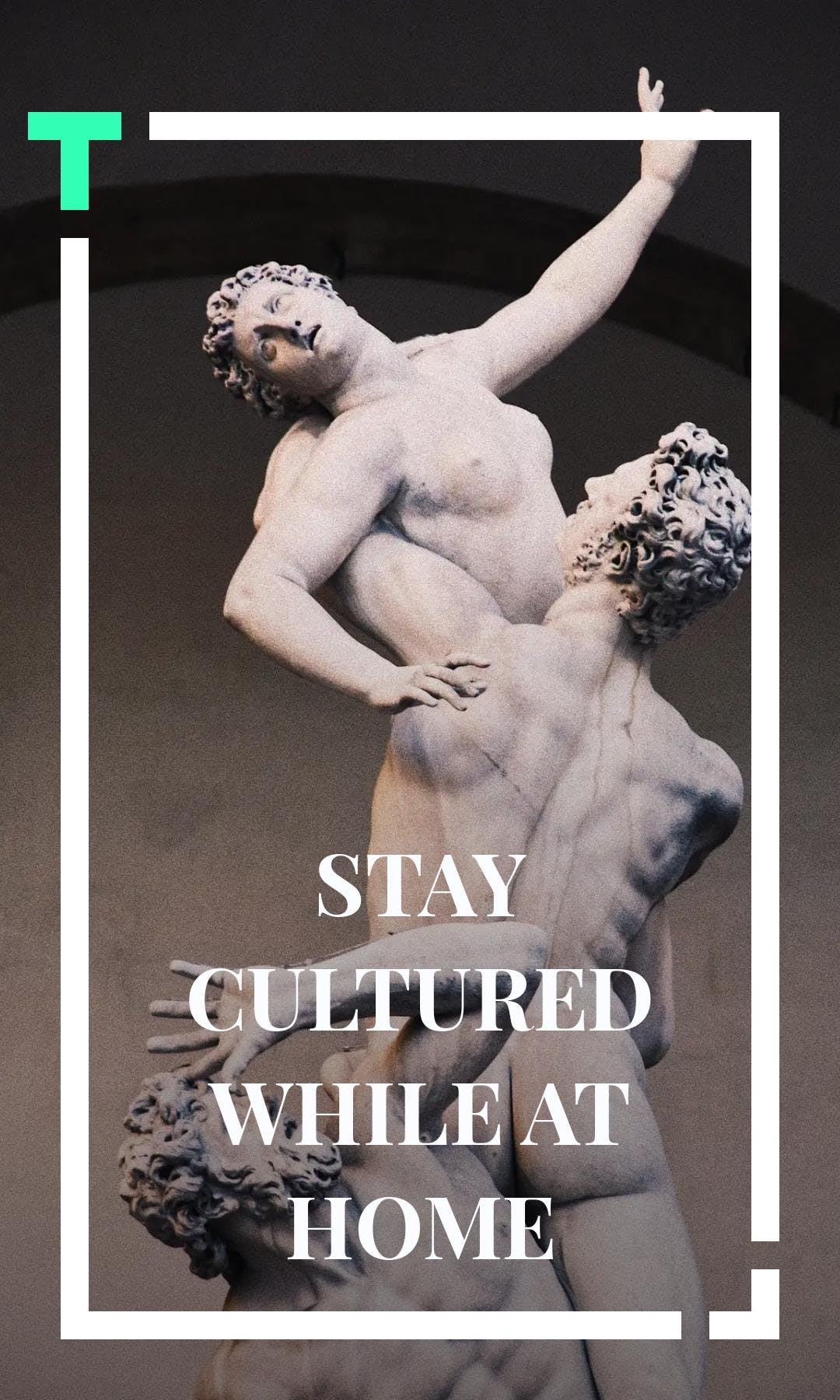 Cover image of a Tappable web story depicting a statue of a greek god