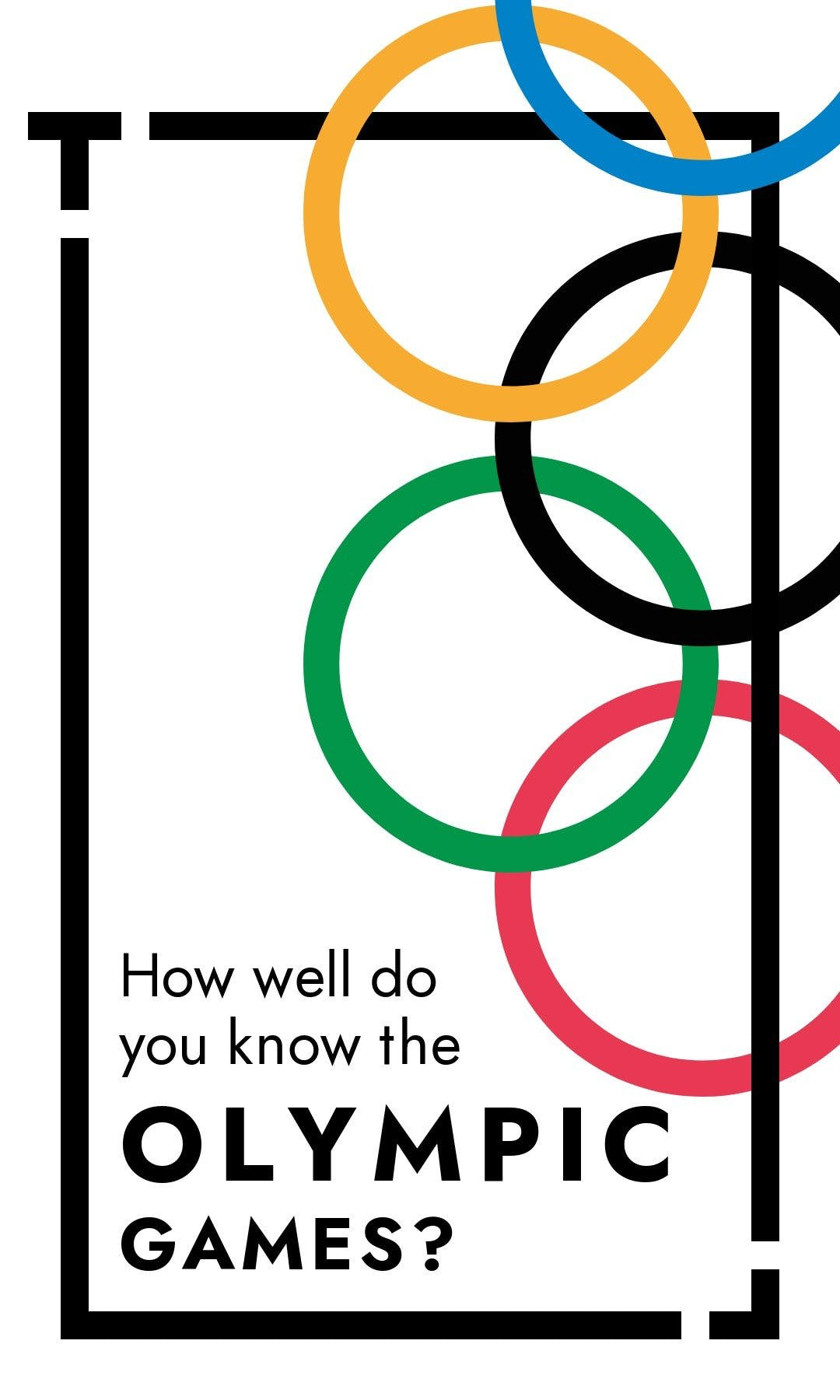 Cover image of a Tappable web story showing a quizz about the olympic games