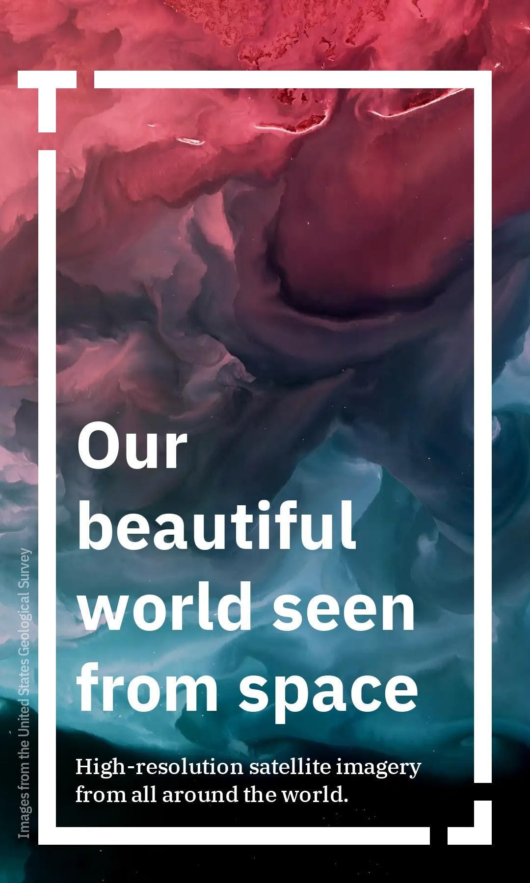 Cover image of a Tappable web story showing how the world looks from above