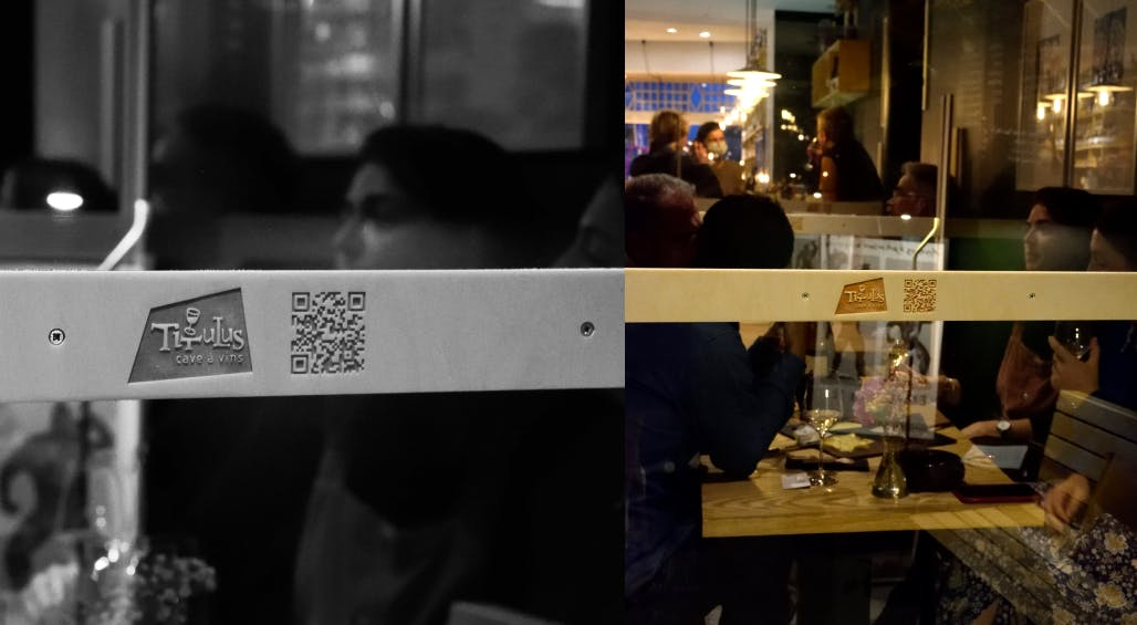 Usage of QR codes to display their menu