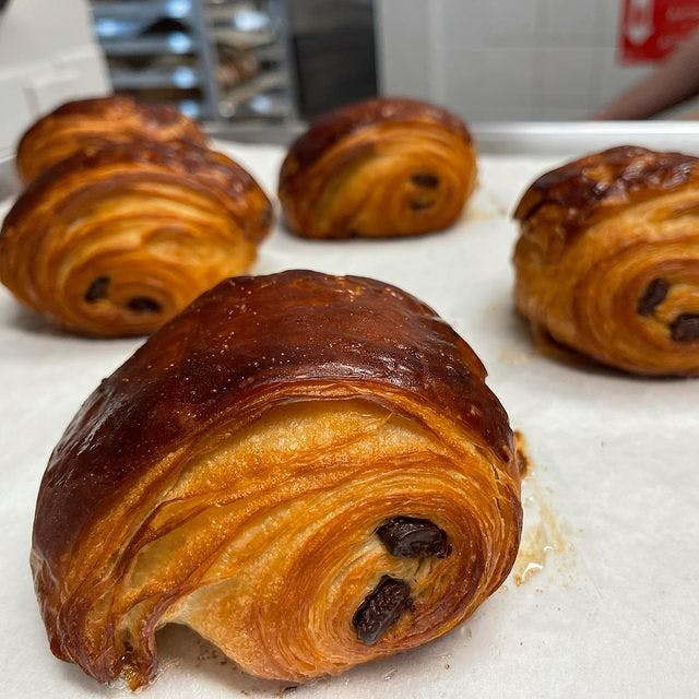 Chocolate croissants from Emmer Toronto