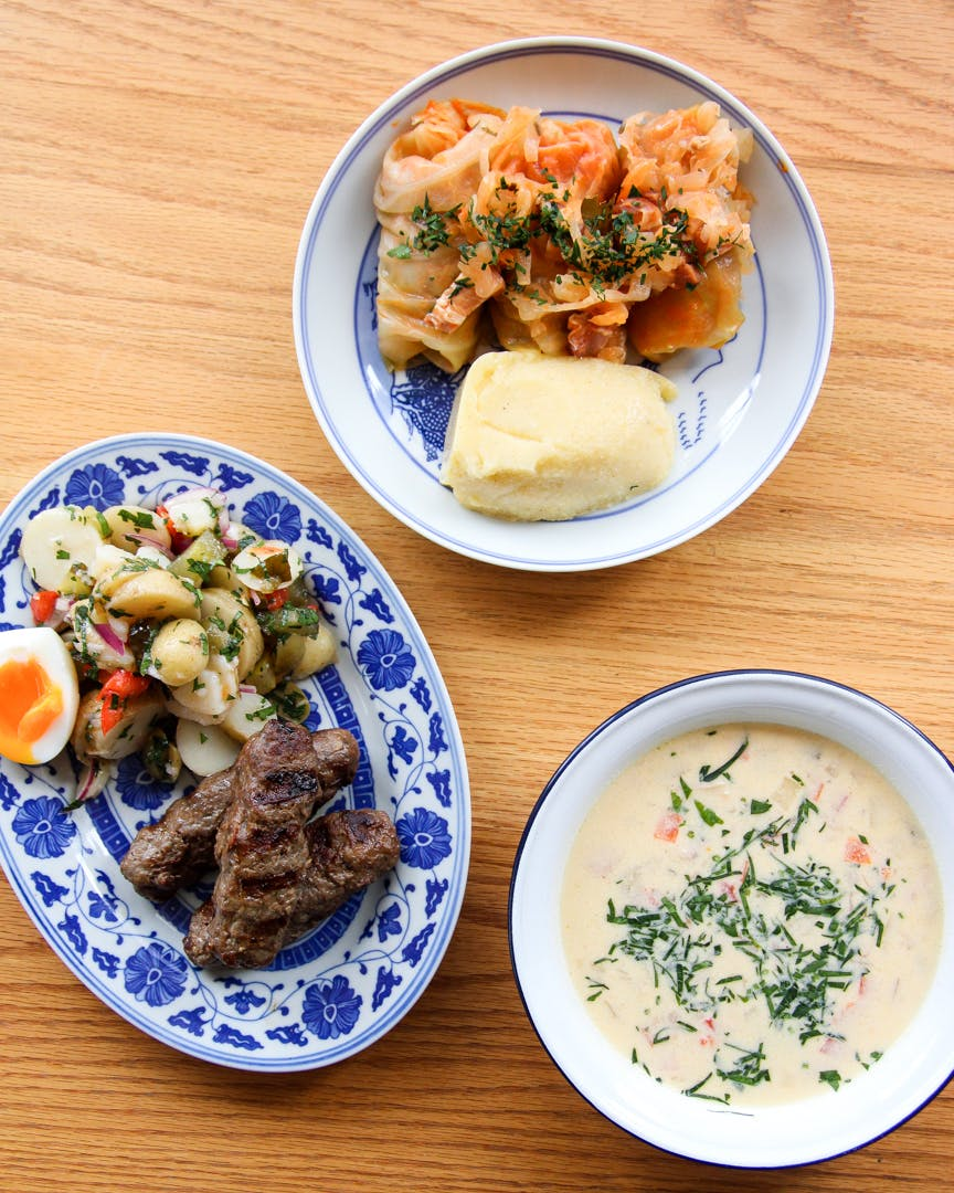 A selection of dishes