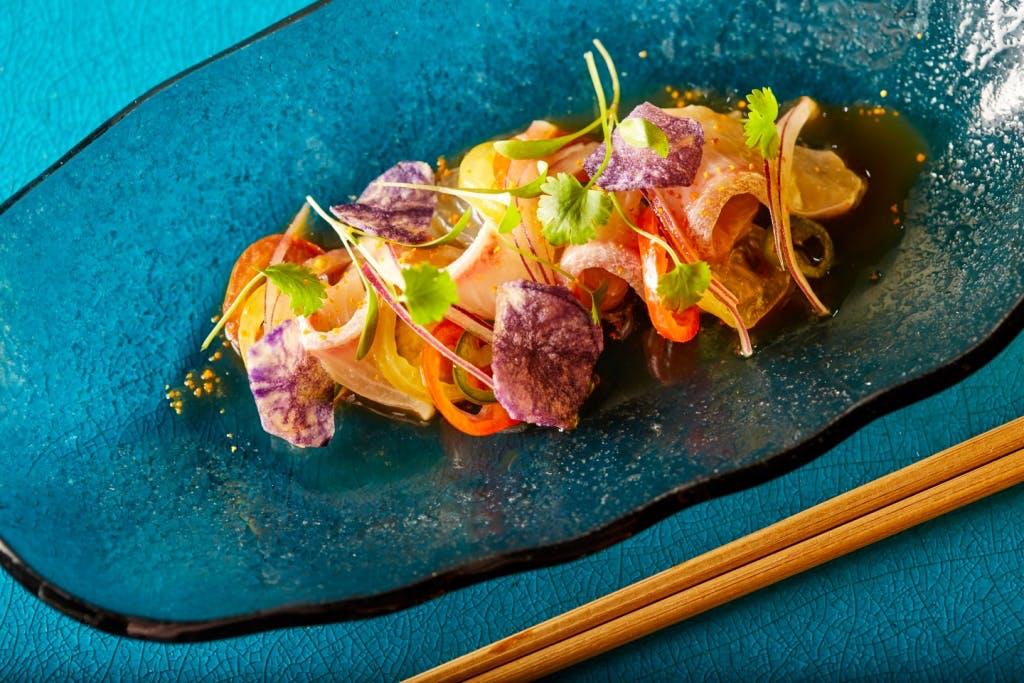 Yellowtail Nikkei Sashimi