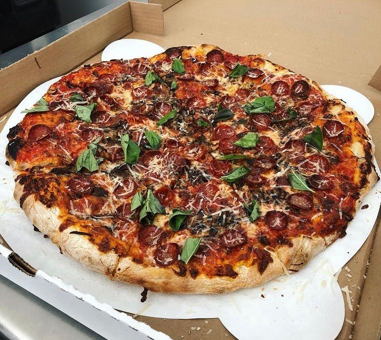 A homemade pizza from One Night Only Pizza Toronto