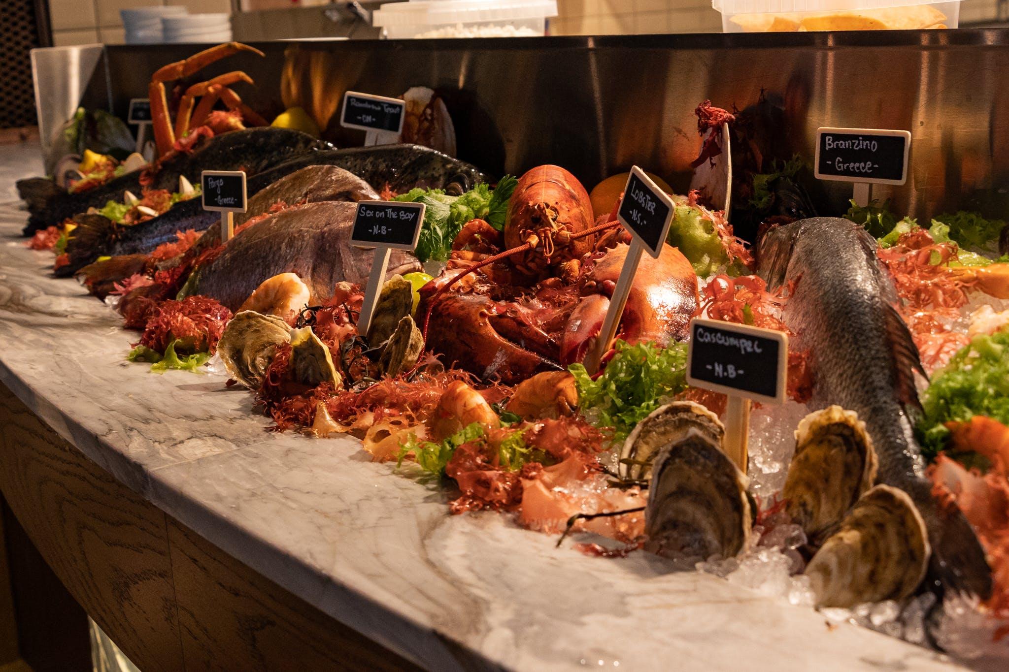 Exposed Seafood Display