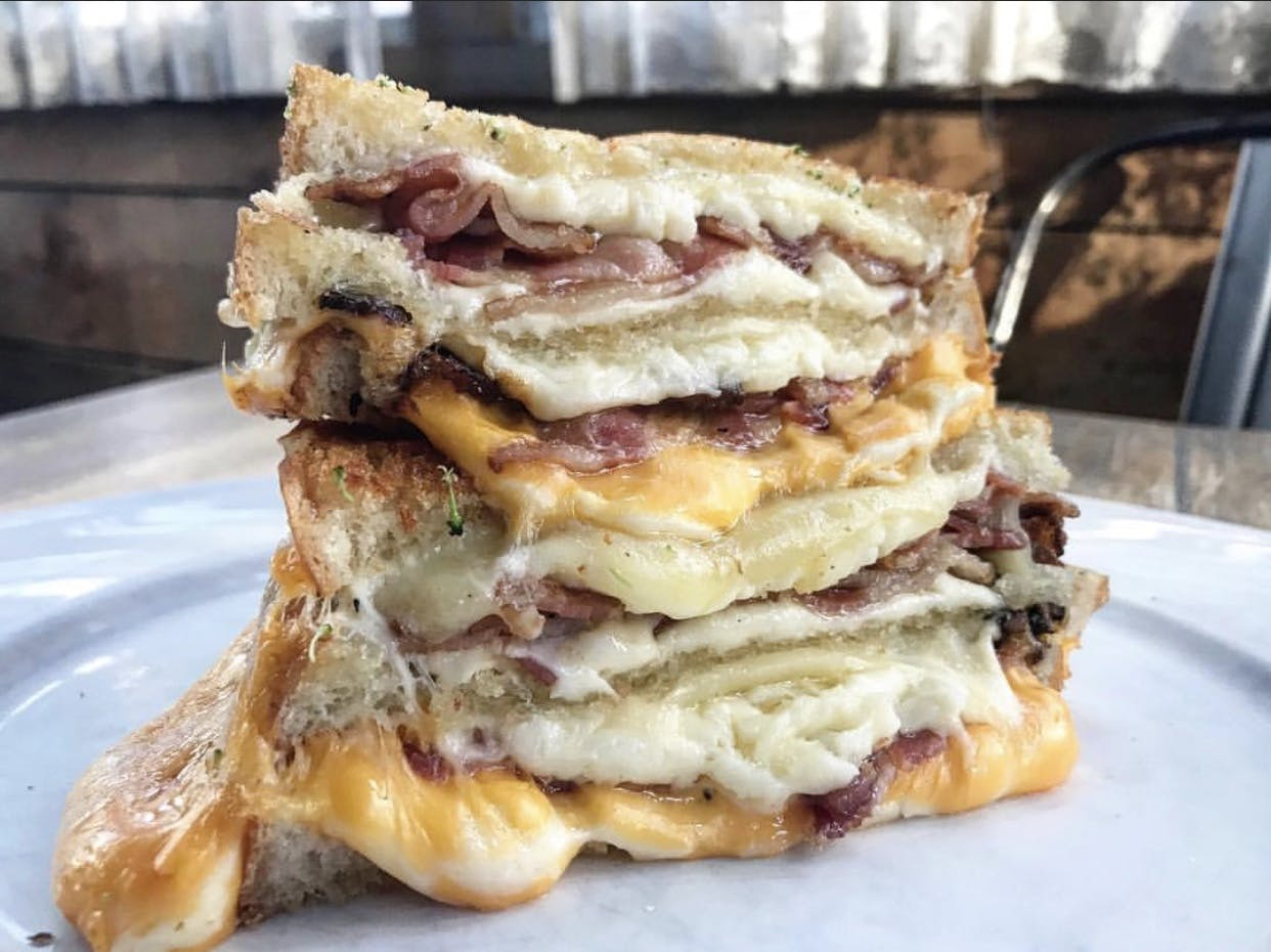 Double Stacked Grilled Cheese