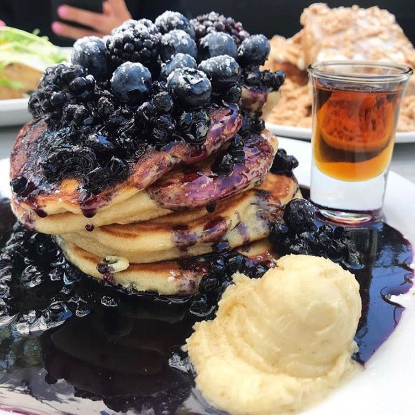 Black and Blue Pancakes