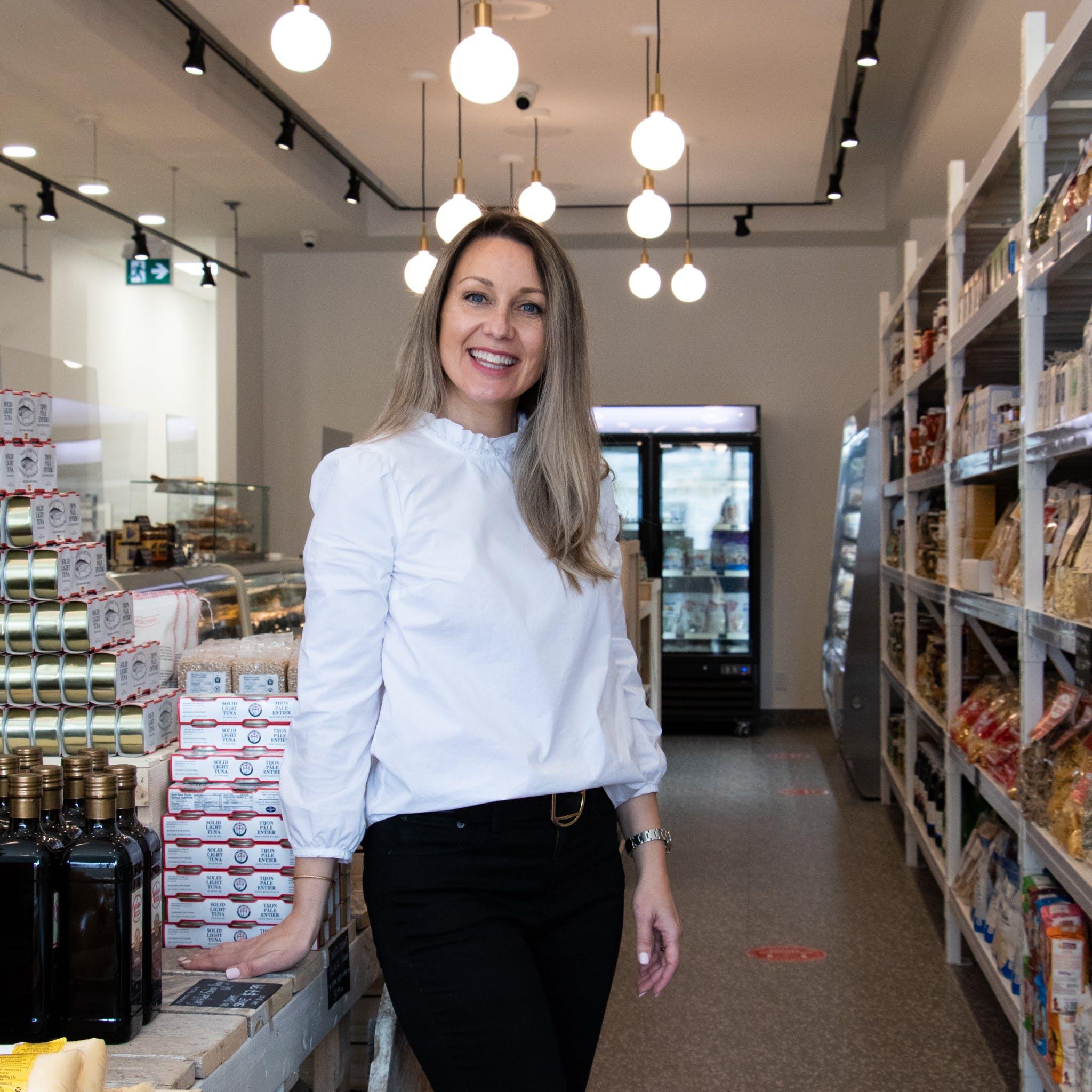 Katerina Adams, owner of La Spesa Food Market. Image by: @paothebao