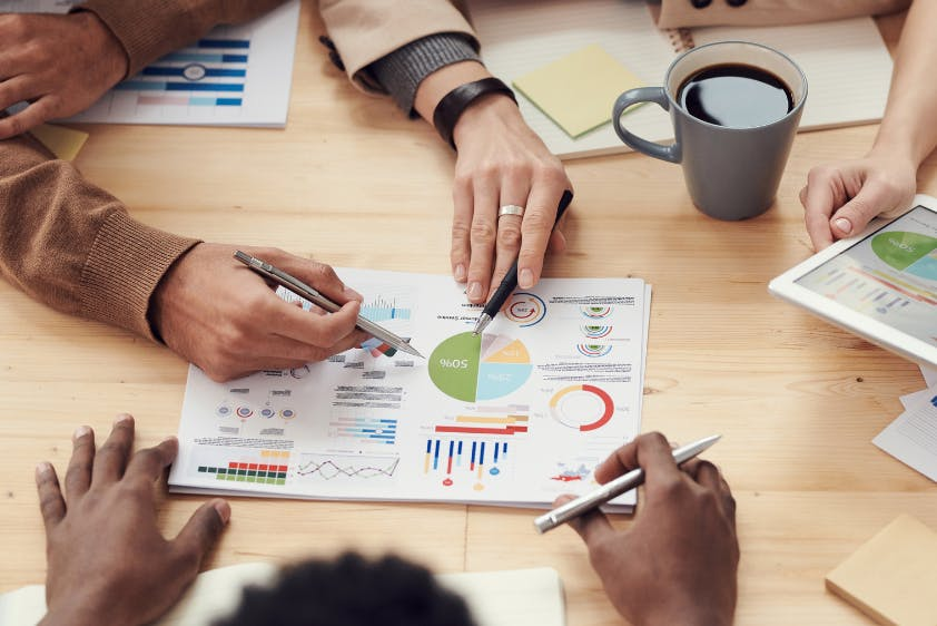 Meeting Analyse Diagramme auswerten