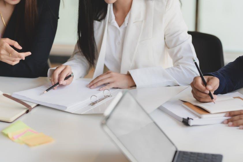 Buchhaltung Planung Dokumente zusammentragen