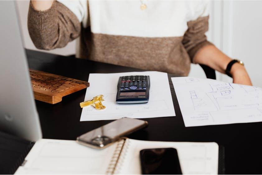Entgeltabrechnung Überprüfung Taschenrechner Unterlagen