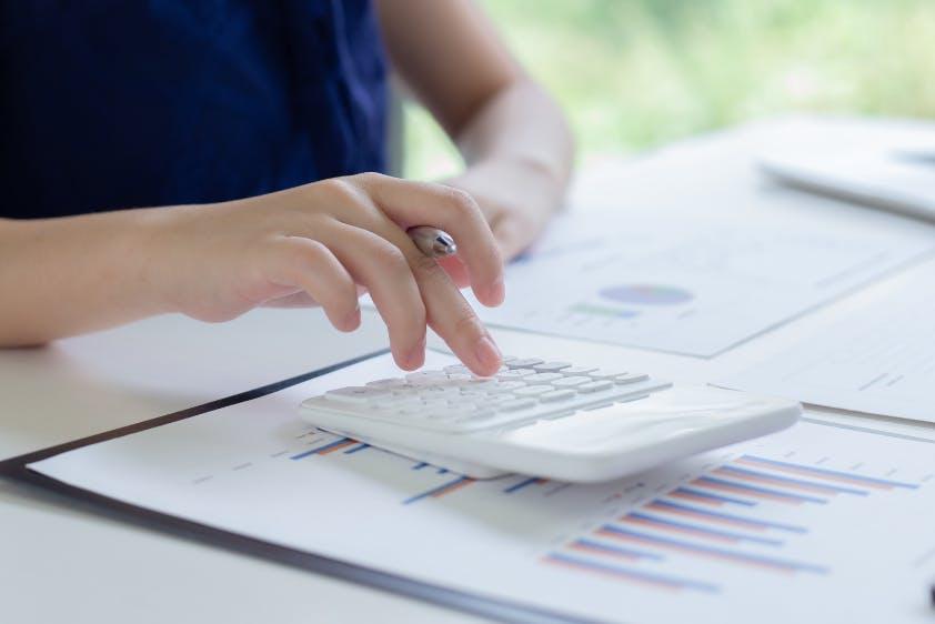 Taschenrechner Unterlagen Finanzplanung