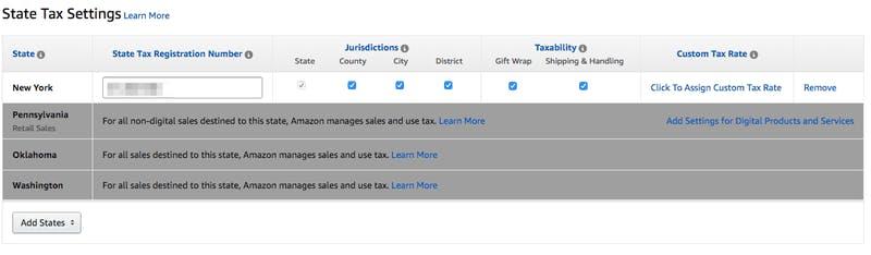 Amazon Sales Tax Nexus