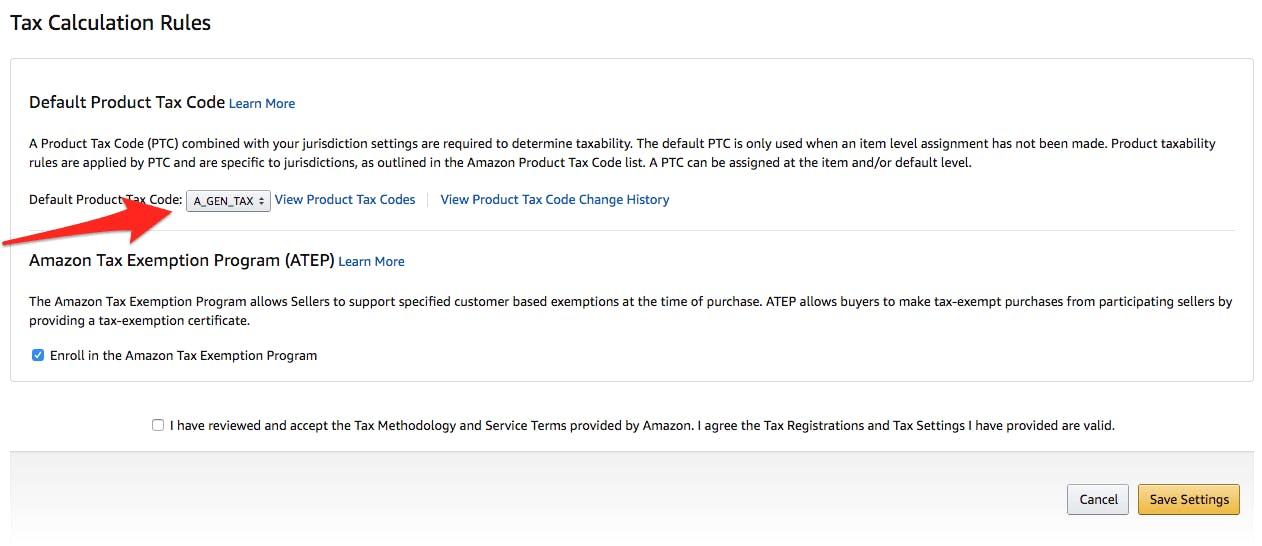 Amazon Product Sales Tax Codes