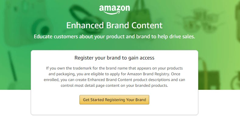 Amazon Enhanced Brand Content Optimization