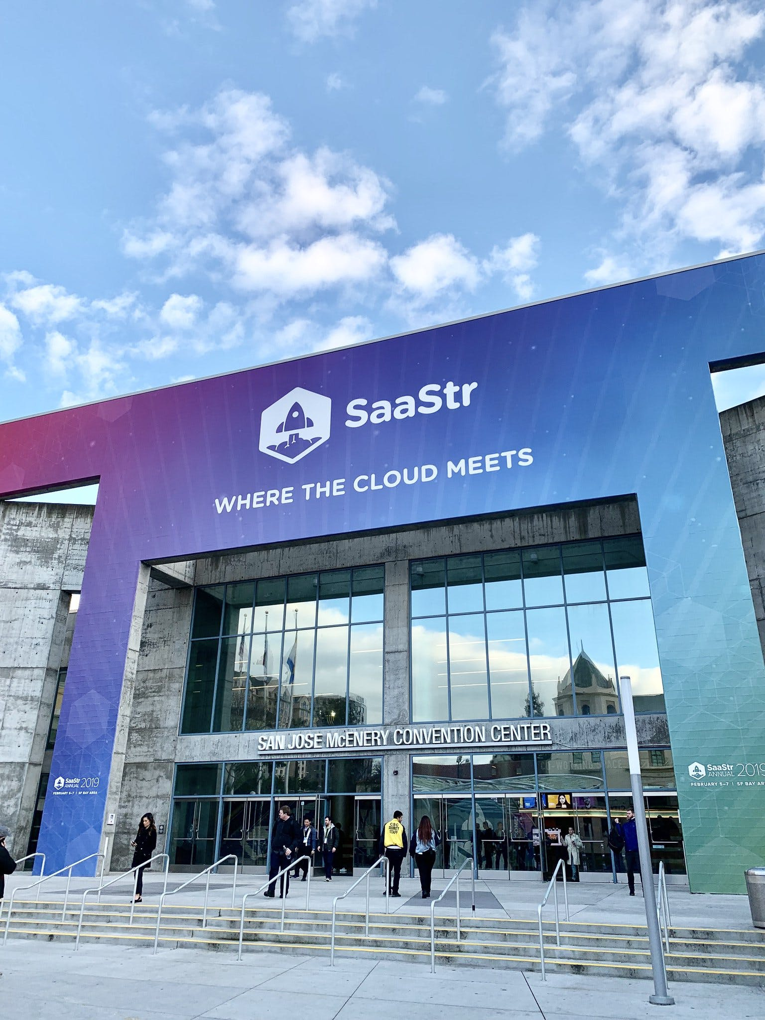 Illustration showing the SaaStr Annual conference entrance for article titled See You at SaaStr Annual