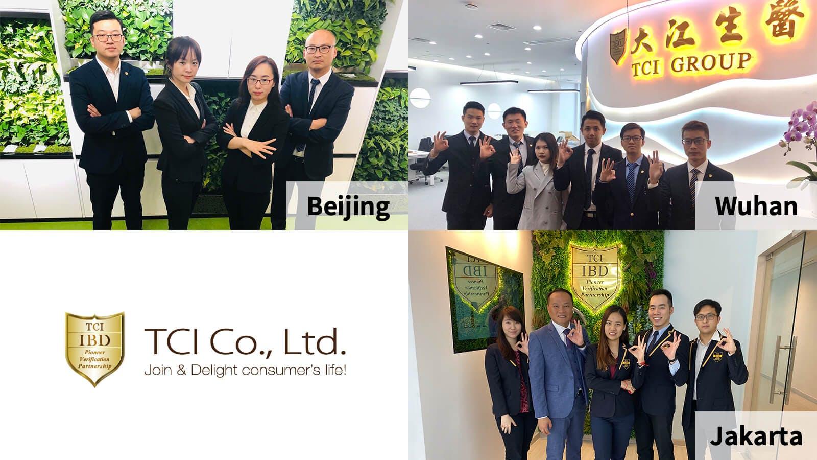 TCI Beijing, Wuhan, Jakarta