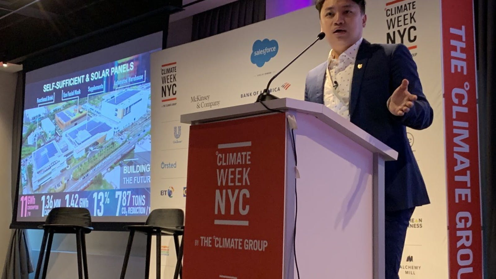 TCI was invited to share the experience in developing the sustainable operation model at Climate Week NYC