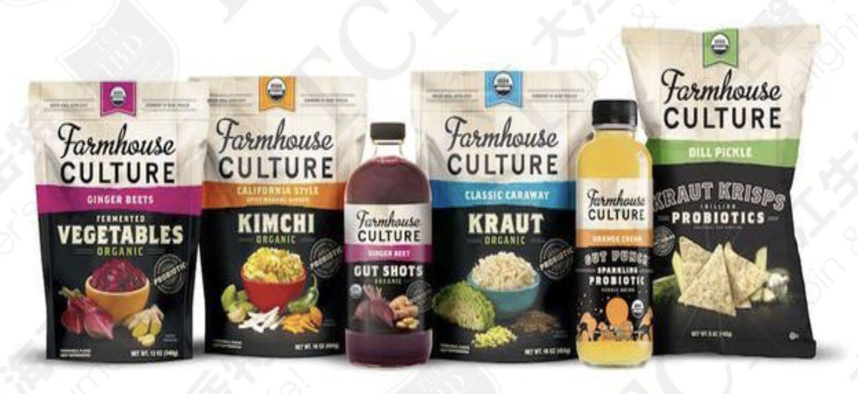 Farmhouse Culture旗下益生菌食品及飲料, 資料來源:Foodaily