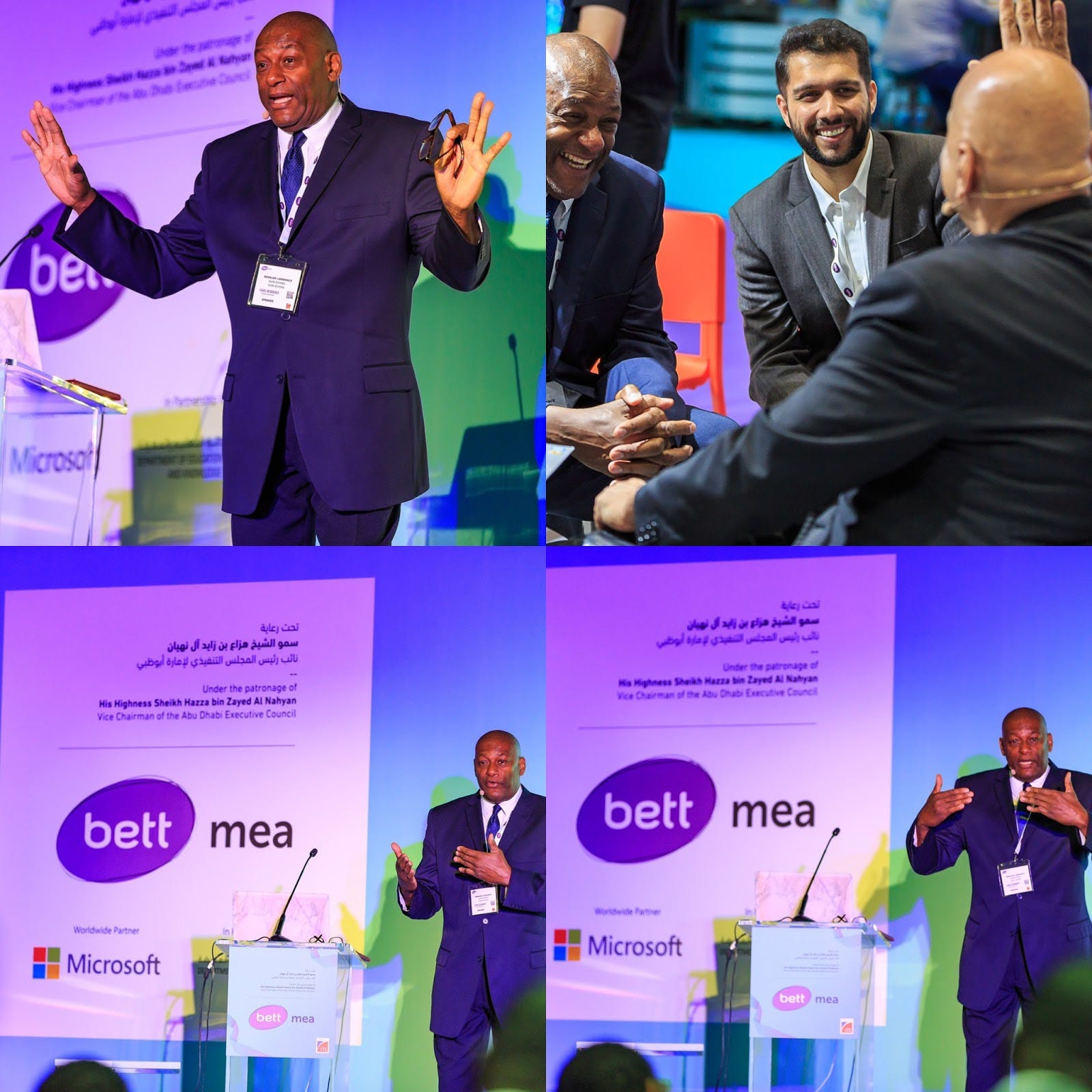 an image of Renaldo Lawrence at bett mea
