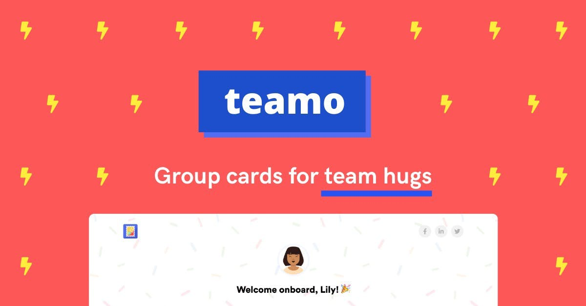 Cover Image for Group card, group e-card: Teamo | Better than Kudoboard
