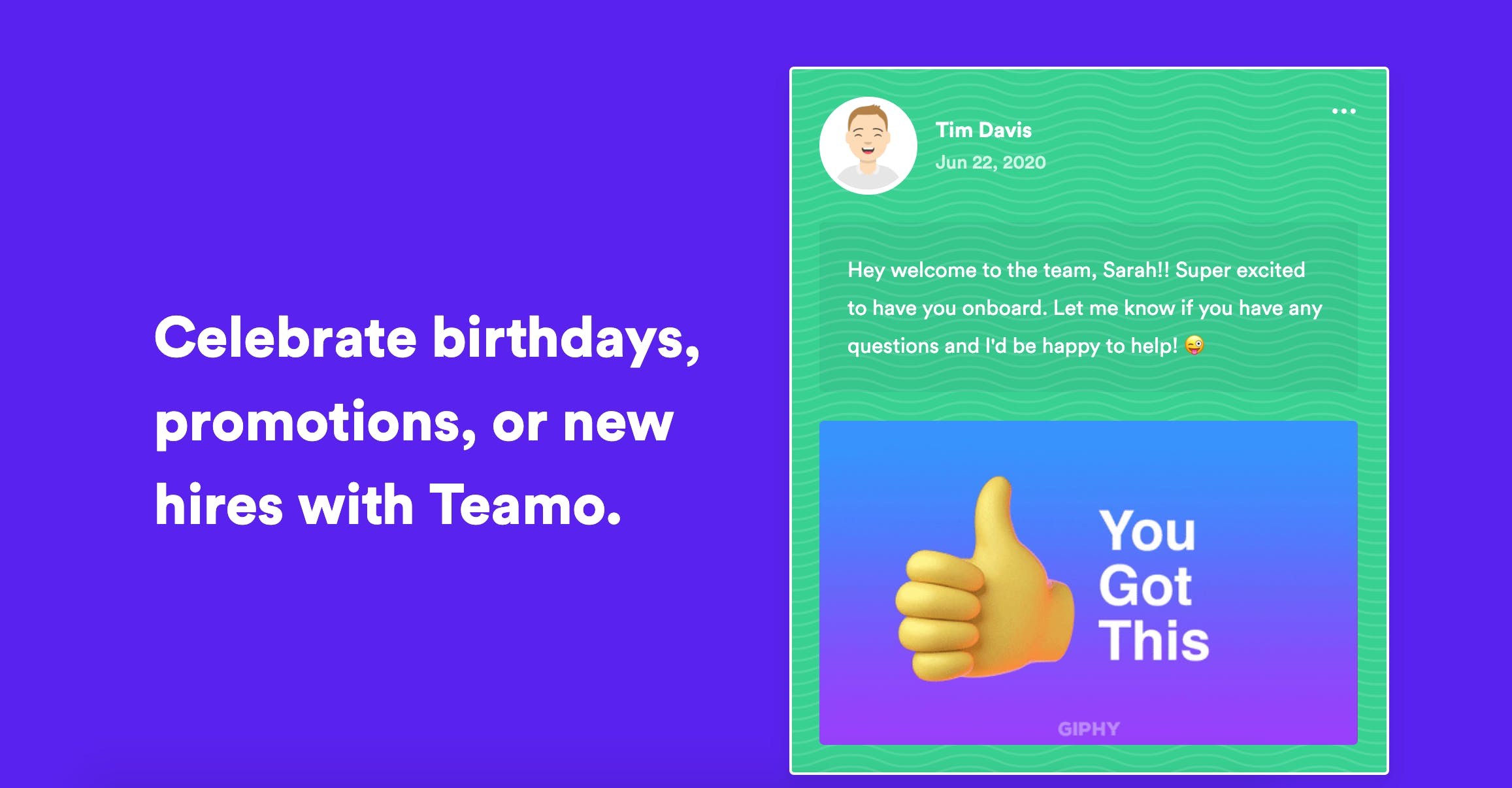 Teamo: online group e-card for any occasion