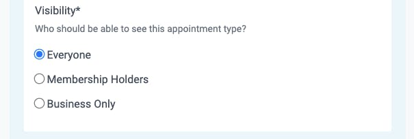 visibility in teamup appointments