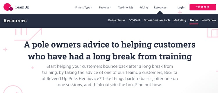 image of guest post article on teamup