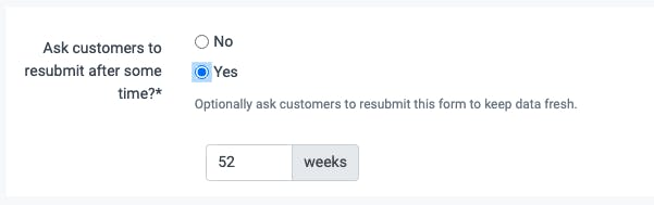 image of asking your customers to resubmit their data