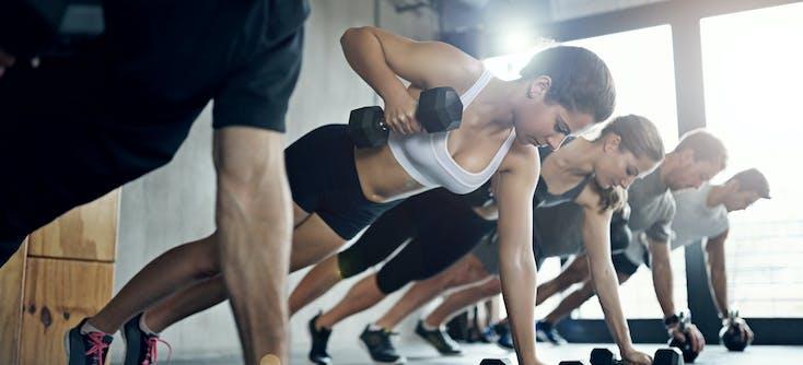 weights class using dumb-bells