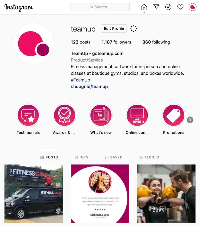 teamup instagram