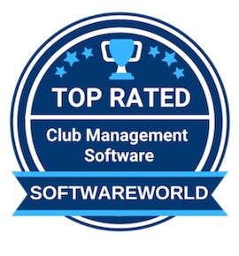 softwareworld badge for best club management software