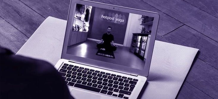 image of a hotpod yoga online class