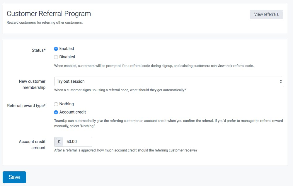 image of the customer referral program