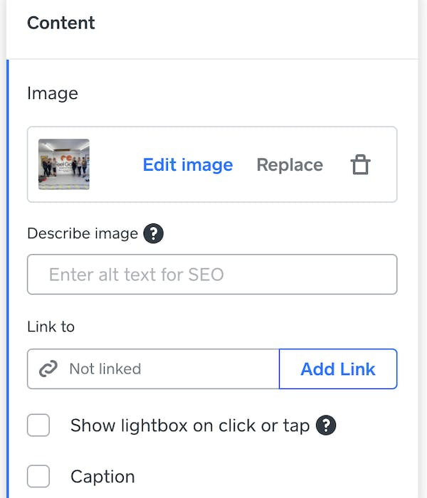 The SEO fields for images
