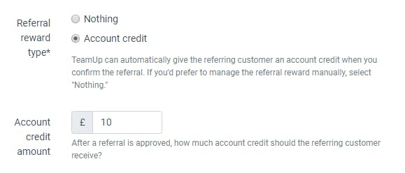 picture of referral rewards options