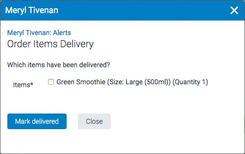 image of order delivery confirmation