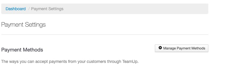 payment settings in teamup
