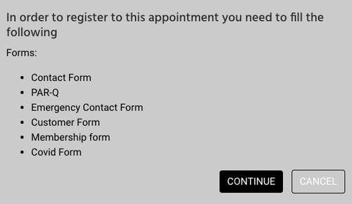 forms and waivers to sign