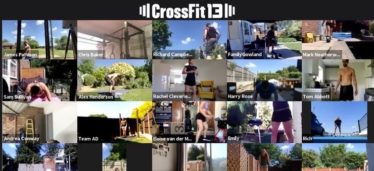 image of crossfit 13's online class