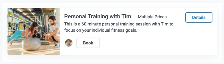 personal training with tim appointment type