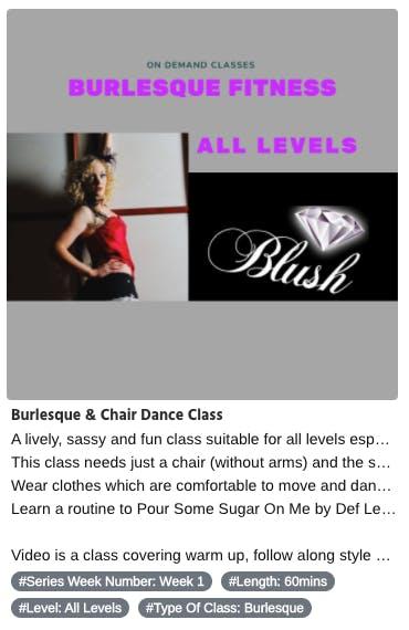 blush dance uk