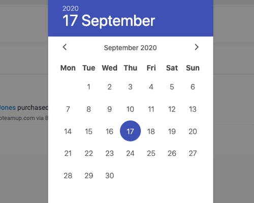 image of the time and date filter