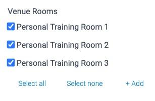 venue rooms in teamup