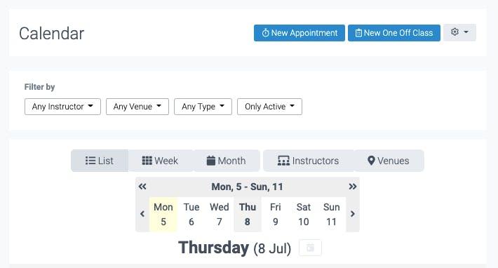 calendar in teamup