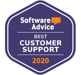 software advice badge for best customer support for club management