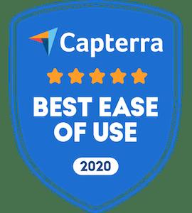 capterra badge for best ease of use for dance studio software