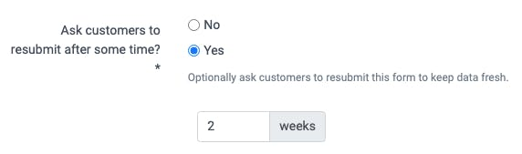 image of prompting your customers to fill this information out again