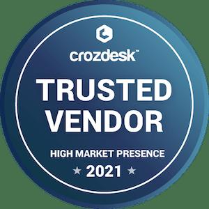trusted vendor crozdesk badge